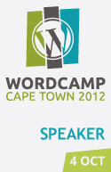 I'm speaking at WordCamp Cape Town 2012!