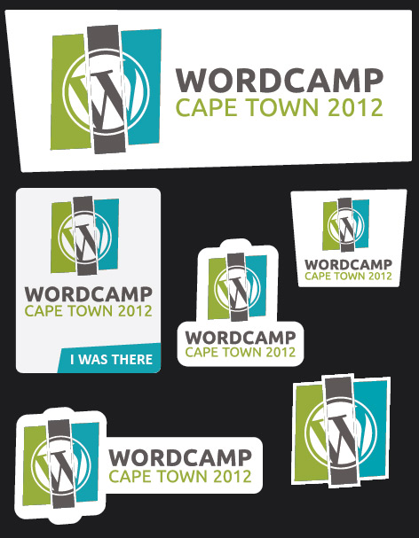 WordCamp Shaped Stickers, Cape Town 2012