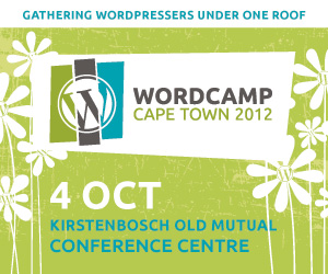 WordCamp Cape Town 2012 Supporter Badge
